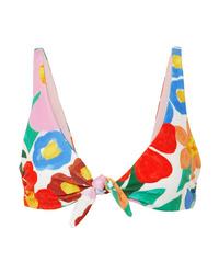 Mara Hoffman Rio Knotted Floral Print Bikini Top