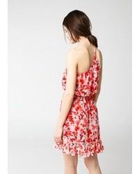 Mango Outlet Floral Asymmetric Dress