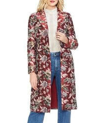 Vince Camuto Floral Tapestry Topper Coat