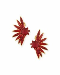 Floral resin clip on statet earrings medium 4983614