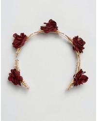 Johnny Loves Rosie Amelia Ornate Red Floral Crown