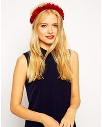 Asos Flowers Headband Red