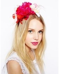 Johnny Loves Rosie Fuschia Floral Corsage Headband Pink