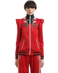 Gucci Floral Patch Techno Jersey Track Jacket