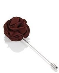 Hugo Boss Flower Brooch Brass Stick Pin One Size Grey