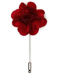 Perry Ellis Grosgrain Flower Lapel Pin