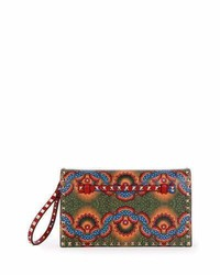 Medium enchanted wonderland rockstud clutch bag red multi medium 846765