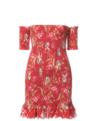 Zimmermann Off The Shoulder Floral Dress
