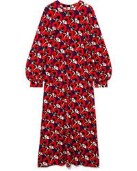 Marni Ryon Floral Print Jersey Maxi Dress
