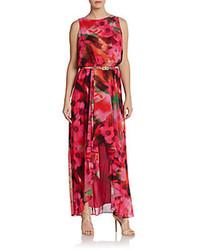 Sleeveless floral print maxi dress medium 76650