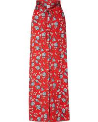 Vetements Floral Print Crepe Maxi Skirt