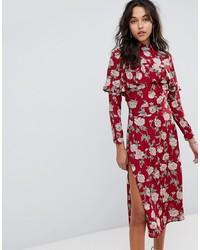 Flynn Skye Floral Midi Dress Roses