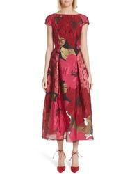 Talbot Runhof Poppy Organza Jacquard Dress