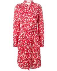 Tory Burch Floral Print Shirt Dress