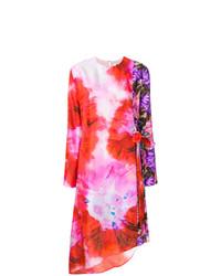 MSGM Wrap Front Asymmetric Dress