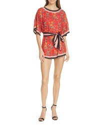 Alice + Olivia Bowie Floral Romper