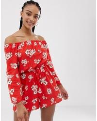 New Look Floral Print Playsuit Pattern