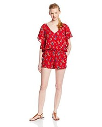 Lucca Couture Flutter Sleeve Print Romper