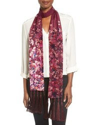 Folk floral tassel skinny scarf medium 817593