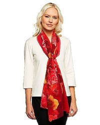 Isaac mizrahi live photo real floral printed scarf medium 117467