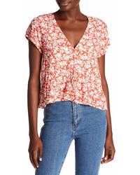 Rollas lula short sleeve floral print blouse medium 7012212