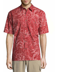 Island Shores Short Sleeve Button Front Shirt