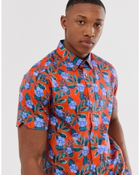 Ted Baker Shirt With Bright Floral Print