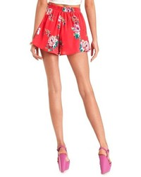 Charlotte Russe Flowy Floral Print High Waisted Shorts   Where to ...
