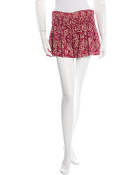 Isabel Marant Ruched Printed Shorts