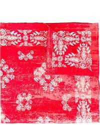 Kiton Floral Pattern Pocket Square