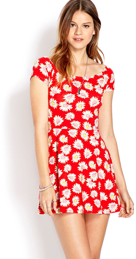 Forever 21 Sunflower Skater Dress | Where to buy & how to wear