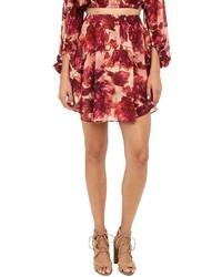 For Love And Lemons Wild Rose Mini Skirt