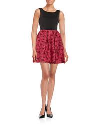 Rose print fit and flare dress medium 547519