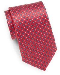 Saks Fifth Avenue Floating Floral Print Silk Tie