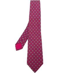 Herms Vintage Floral Pattern Tie