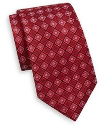 Saks Fifth Avenue Floral Diamond Silk Tie