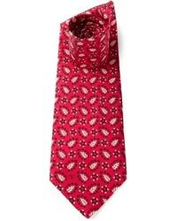 Valentino Vintage Floral Print Tie