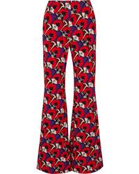 Marni Floral Print Jersey Wide Leg Pants