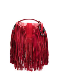 Andrea Bogosian Leather Fringed Shoulder Bag