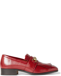 0327ec11e Men's Fringe Leather Loafers by Gucci | Men's Fashion | Lookastic.com
