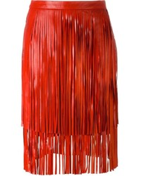 Drome Fringed Leather Skirt