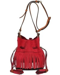 Burberry small belgrov fringed nubuk bucket back medium 339982