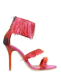 Gianluca capannolo 90mm fringed jacquard sandals medium 440163