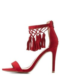 9a6a2e7cfd Women's Red Sandals by Charlotte Russe | Women's Fashion | Lookastic.com