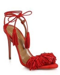 Wild thing fringe suede sandals medium 440157