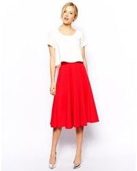 Red full skirt original 1477707