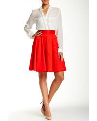 Amanda Chelsea Exposed Zip Circle Skirt