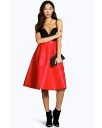 Boohoo Bahia Pleated Full Midi Skirt