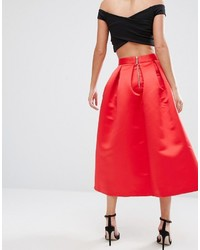 a2c3a005e9 Closet London Closet Full Prom Midi Skirt In Sateen, $82 | Asos ...