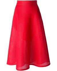 DKNY Flared Mesh Skirt